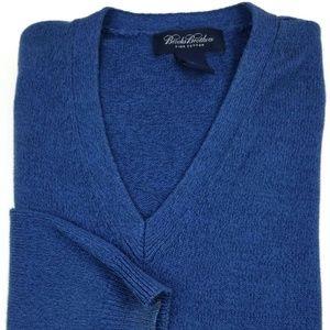 Brooks Brothers Pima Cotton V-Neck Sweater Sz XL